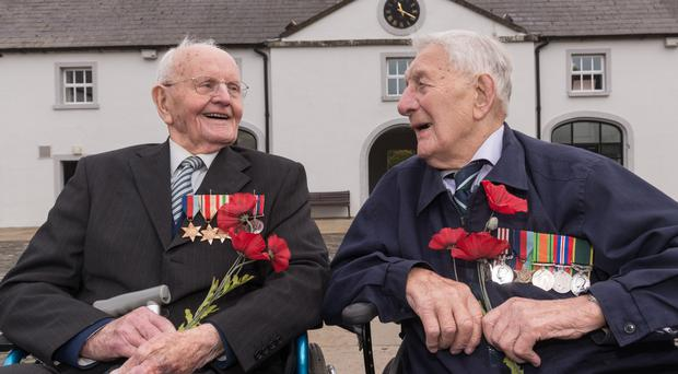 Second World War veterans Bob Lingwood and Dave Mullin helped to launch Northern Ireland's Royal British Legion's Poppy Appeal