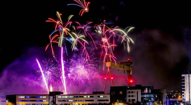 The fireworks extravaganza in east Belfast last night