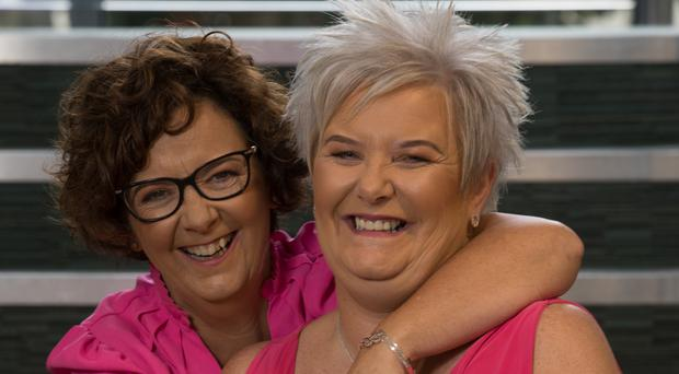 Donna McGavigan with her close friend Frances Jack, who she joined for a screening procedure