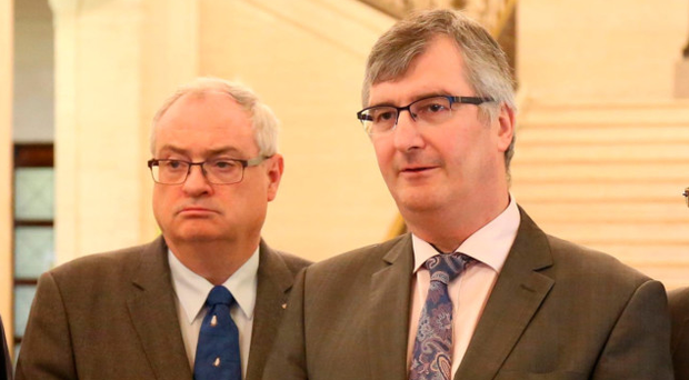 UUP leader-in-waiting Steve Aiken with former party leader Tom Elliott