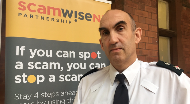 PSNI Chief Superintendent Simon Walls has urged public to be cautious after two scammed out of £70,000 in recent weeks. (PSNI/PA)