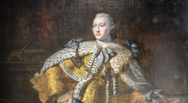 Moved: King George III portrait