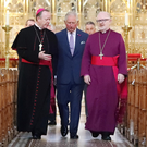 Richard Clarke (right) with Prince Charles and Catholic Primate Eamon Martin in Armagh earlier this year