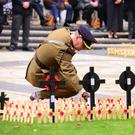 The official opening yesterday of the 2019 Belfast Field of Remembrance in the grounds of Belfast City Hall
