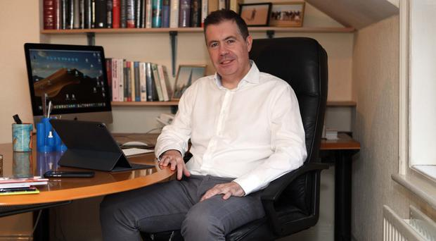 Glyn Roberts back at work in Ballyhackamore office