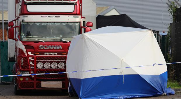 All 39 people found dead in a lorry in Essex have now been identified, police have said (Aaron Chown/PA)