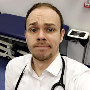 Declan O'Neill in his role as a doctor