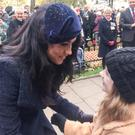 Poppie Hutton meets Harry and Meghan in the Westminster Field of Remembrance