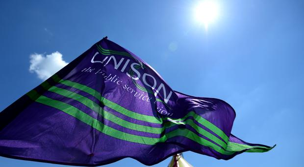 Unison said its ballot focused on pay and staffing levels (Andrew Matthews/PA)