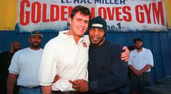 Mike Tyson with Glenn McCrory, ex-champion and sparring partner