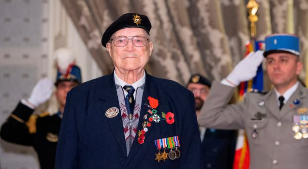 William Allen after being presented with the Legion d'Honneur