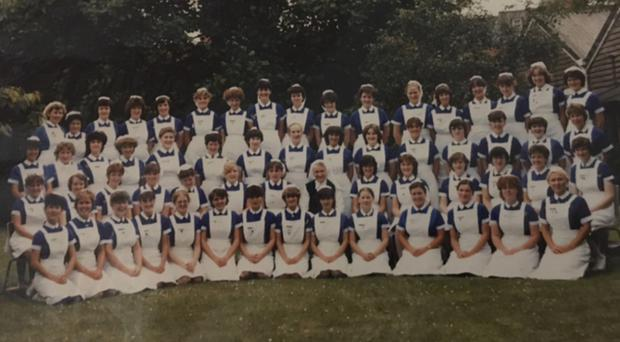 The trainee nurses from the 1979 intake