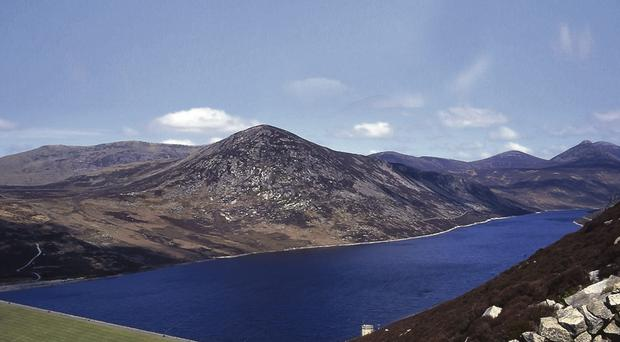 The Silent Valley reservoir in the Mournes