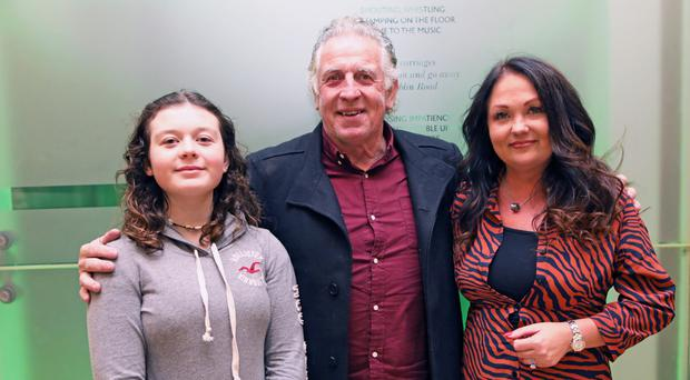 Gerry Armstrong with his wife Debbie and daughter Marianna