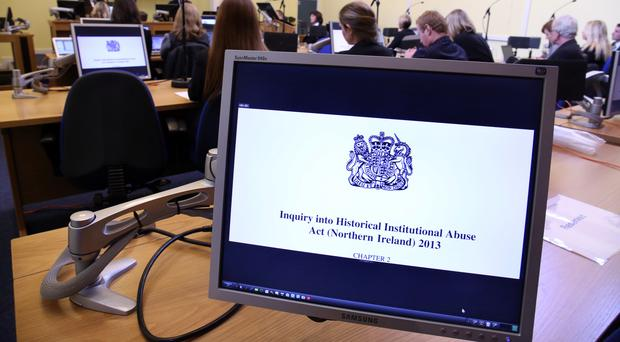 The opening session of the independent Historical Institutional Abuse Inquiry in Banbridge, Co Down (Paul Faith/PA)