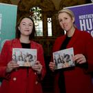 Festival co-ordinator Lizzie Howard (left) and Claire Martin from the Northern Ireland Human Rights Commission