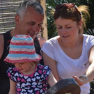 Eugene McNally, who was killed on the A1 in 2015, with his daughter Linzi and his granddaughter Ailey