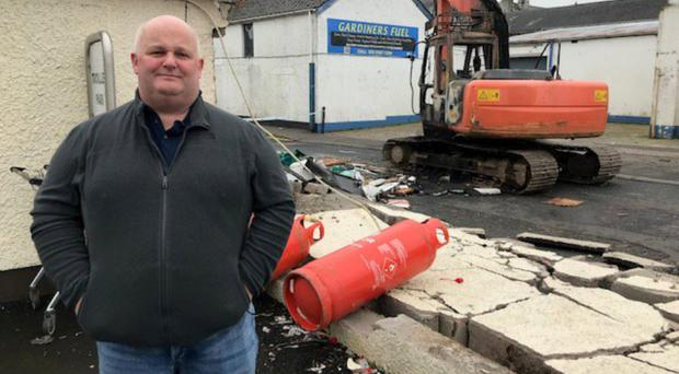 Walter Millar after his business was targeted by ATM thieves