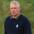 Prince Andrew at Royal Portrush Golf Club in Co Antrim in September