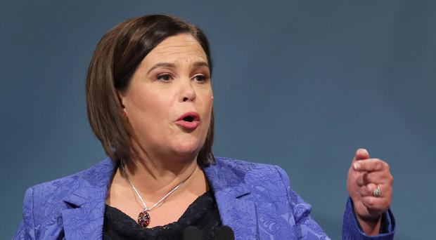 Mary Lou McDonald accused the DUP of trying to distract people from its role in Brexit (Brian Lawless/PA)