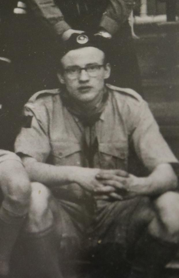 A young Billy in uniform