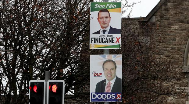 Election posters in North Belfast