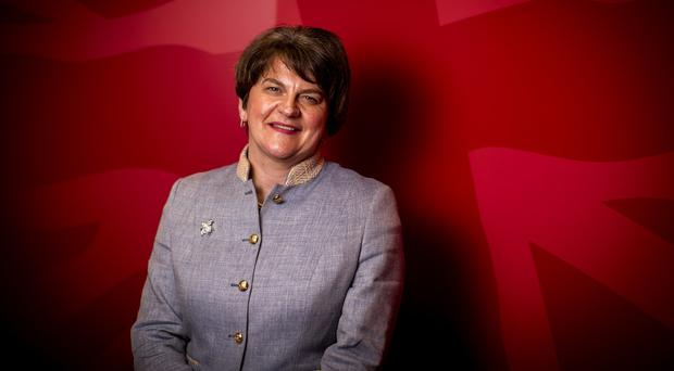 Arlene Foster pictured at the party headquarters in east Belfast (Liam McBurney/PA)