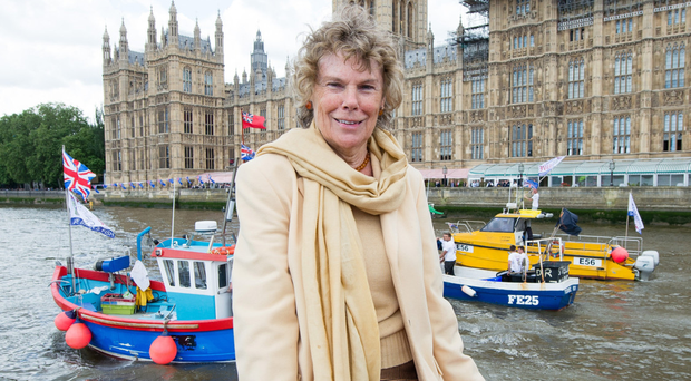 Kate Hoey outside the Houses of Parliament