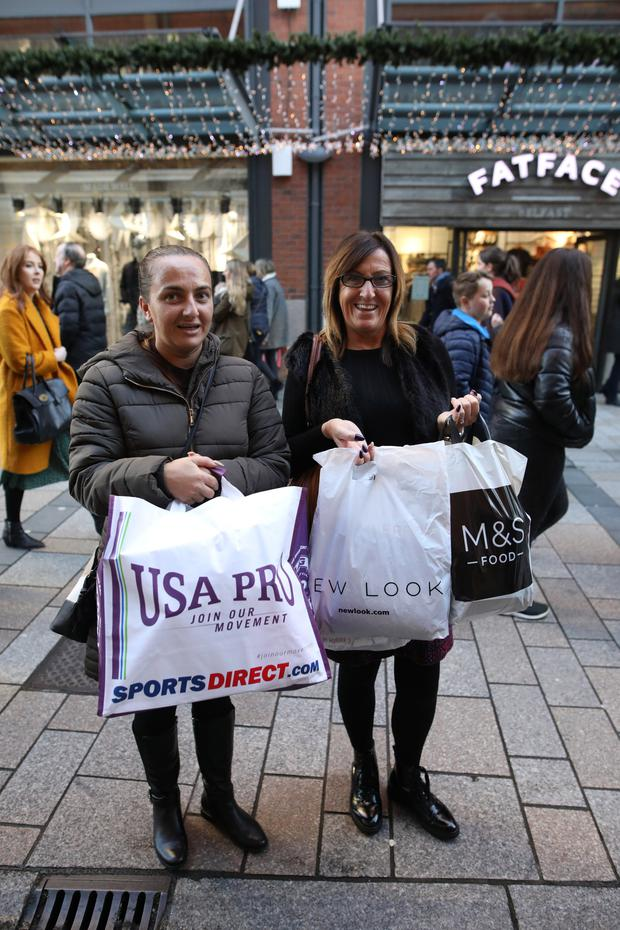 Belfast shoppers Pauline McCausland and Amanda Brown