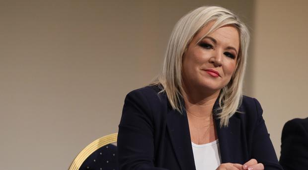 Sinn Fein's Michelle O'Neill has called for a just and sustainable powersharing administration at Stormont (Brian Lawless/PA)