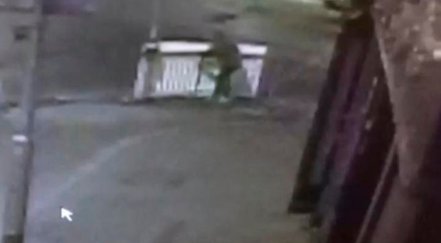 A CCTV image of the theft