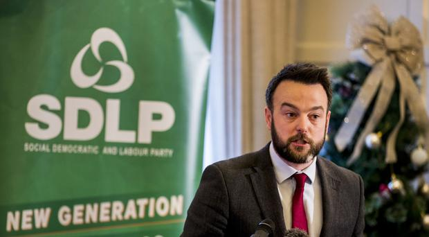 The General Election is an opportunity to punish Sinn Fein for failing to take seats at Stormont and Westminster, the SDLP leader Colum Eastwood said (Liam McBurney/PA).