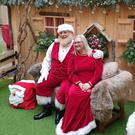 Carrowdore Santa Brian Dickson (47) with his wife Jacqueline