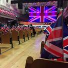 The unionist rally at the Ulster Hall