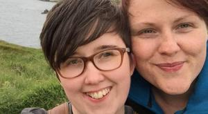 Murdered journalist Lyra McKee with her partner Sara Canning