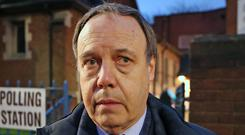 The DUP's Belfast North candidate Nigel Dodds (Liam McBurney/PA)
