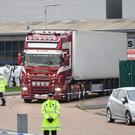 The container lorry in which 39 people were found dead at Waterglade Industrial Park in Grays, Essex (Stefan Rousseau/PA)