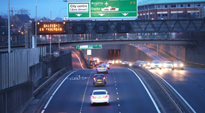A 20-year-old was struck by a car on the Westlink early yesterday