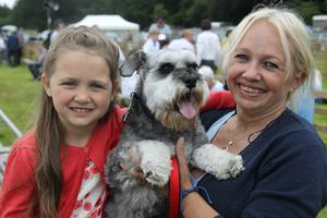 Clare and Marnie Squires with dog Rocky