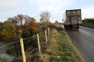 The road on which Mr McLaughlin lost control of his van