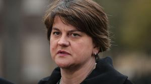Arlene Foster said the PM's plan for an open border on the island of Ireland has set out a basis for progress (PA)