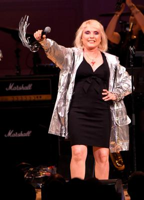 Cyndi Lauper, Debbie Harry (pictured), former REM singer Michael Stipe and Wayne Coyne and The Flaming Lips were among the performers at The Music of David Bowie at Carnegie Hall in New York