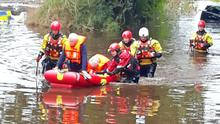 Thirty-seven people have been rescued from flood water in Northern Ireland, the fire service said (NIFRS/PA)