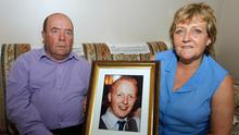 Colin and Eithne Bell with a picture of their son Kevin