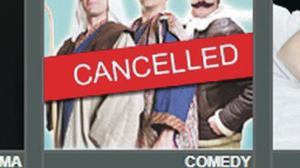 No show: notice on the theatre's website