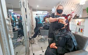 Kathleen Grufferty has her hair coloured by Sabrina Finn at the House of LA Salon in Athy, Co Kildare