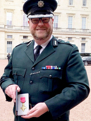 PSNI Deputy Chief Constable Stephen Martin after receiving his OBE in 2018