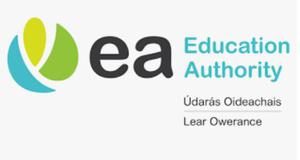 The Education Authority previously used a logo which included Irish and Ulster Scots. (EA/PA)
