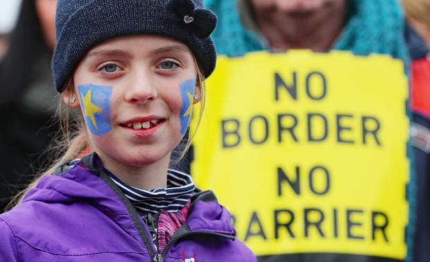 There have been several anti-Brexit protests at the Irish border in recent months (Niall Carson/PA)