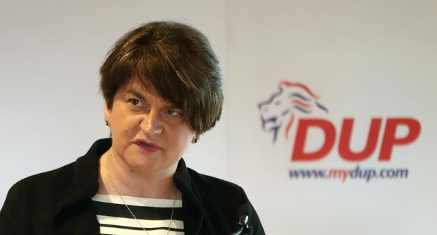 The DUP – led by Arlene Foster – are vehemently opposed to the backstop (Niall Carson/PA)